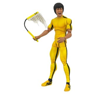 Diamond Select Toys Bruce Lee Select Action Figure Yellow Jumpsuit 18 cm