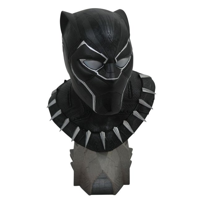 Diamond Select Toys Black Panther Legends in 3D Bust 1/2 Black Panther 25 cm