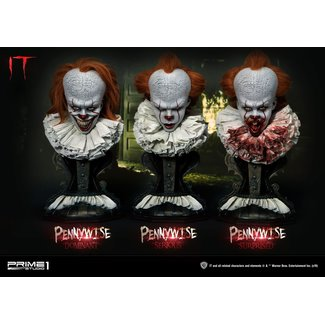 Prime 1 Studio Stephen Kings It 2017 Busts 3-Pack 1/2 Pennywise Serious, Dominant & Surprised 42 cm