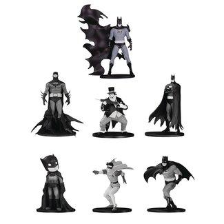 DC Collectibles Batman Black & White PVC Minifigure 7-Pack Box Set #4