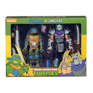NECA  Teenage Mutant Ninja Turtles Action Figure 2-Pack Leonardo vs Shredder 18 cm