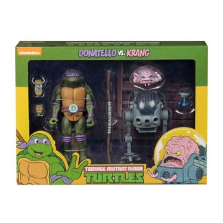 NECA  Teenage Mutant Ninja Turtles Action Figure 2-Pack Donatello vs Krang in Bubble Walker 18 cm