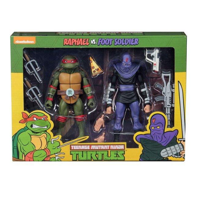 NECA  Teenage Mutant Ninja Turtles Action Figure 2-Pack Raphael vs Foot Soldier 18 cm
