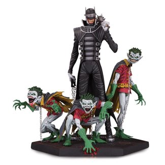 DC Collectibles Dark Nights Metal Deluxe Statue Batman Who Laughs & Robin Minions 21 cm