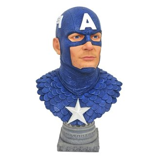 Diamond Select Toys Marvel Comics Legends in 3D Bust 1/2 Captain America 25 cm