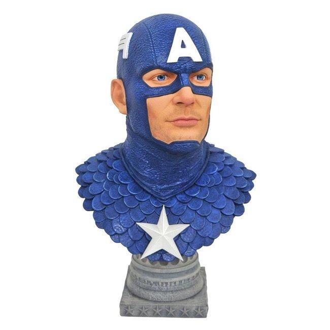 Diamond Select Toys Marvel Comics Legends in 3D Bust 1/2 Captain America 25 cm