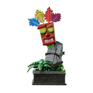 First 4 Figures Crash Bandicoot Statue Mini Aku Aku Mask 40 cm