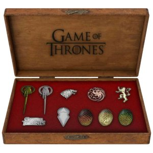 Game of Thrones Set of 10 Deluxe Pins Icons