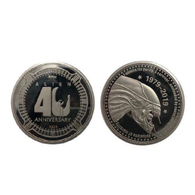 FaNaTtik Alien Collectable Coin 40th Anniversary Silver Edition