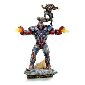 Avengers: Endgame BDS Art Scale Statue 1/10 Iron Patriot & Rocket 28 cm