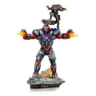 Iron Studios Avengers: Endgame BDS Art Scale Statue 1/10 Iron Patriot & Rocket 28 cm