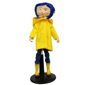 NECA  Coraline Articulated Figure Coraline in Raincoat 18 cm