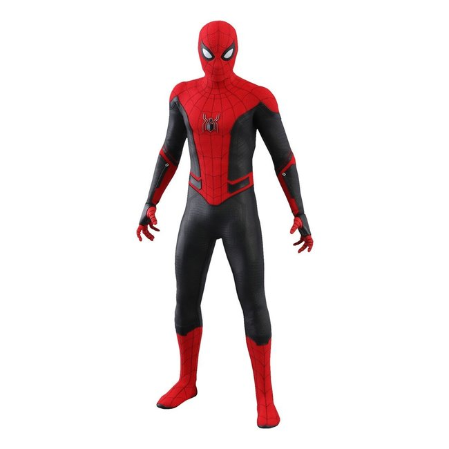 Spider Man Far From Home Movie Masterpiece Action Figure 1 6 Spider Man Upgraded Suit 29 Cm The Movie Store
