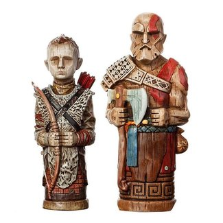 Level 52 Studios God of War Statue 2-Pack Atreus' Toys 16-18 cm