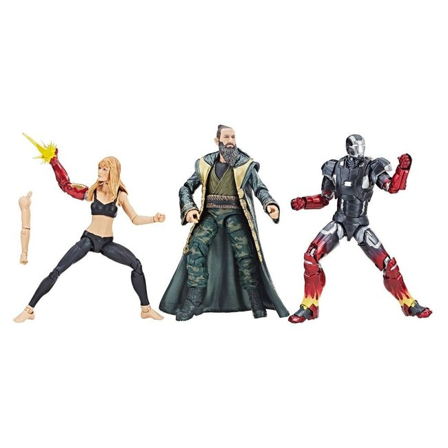 Hasbro Iron Man 3 Marvel Legends Series Action Figure 3-Pack Pepper, Mark XXII & Mandarin 15 cm