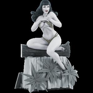 Women of Dynamite Statue Bettie Page (Black & White Edition) 24 cm