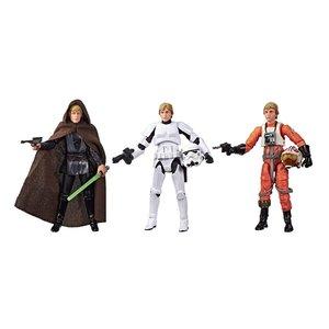 Star Wars Vintage Collection Action Figures 3-Pack Luke Skywalker Jedi Destiny SDCC Exclusive 10 cm
