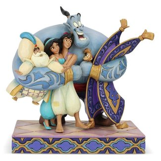 Enesco Disney Statue Group Hug (Aladdin) 20 cm