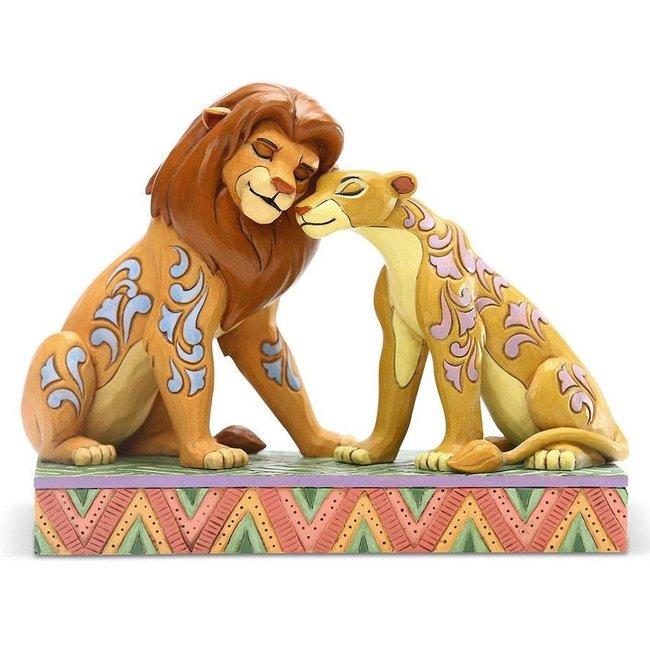 Enesco Disney Statue Simba and Nala Snuggling by Jim Shore (The Lion King) 13 cm