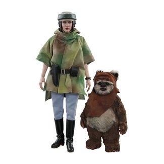 Hot Toys Star Wars Episode VI 1/6 Princess Leia & Wicket 15-27 cm