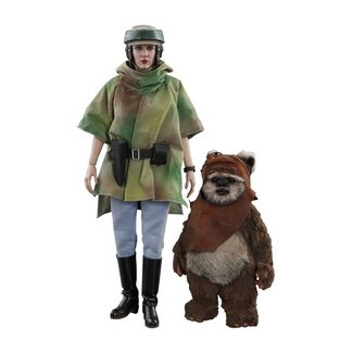 Hot Toys Star Wars Episode VI Movie Masterpiece Action Figure 2-Pack 1/6 Princess Leia & Wicket 15-27 cm