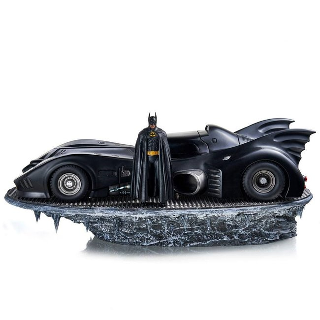 Iron Studios Batman (1989) Deluxe Art Scale Statue 1/10 Batman & Batmobile 75 cm