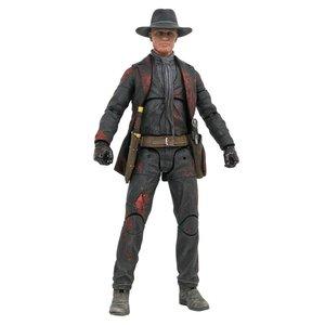 Westworld Action Figure Man in Black Battle Damaged Previews Exclusive 18 cm