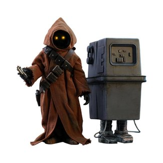 Hot Toys Star Wars Episode IV Movie Masterpiece Action Figure 2-Pack 1/6 Jawa & EG-6 Power Droid 18-21 cm