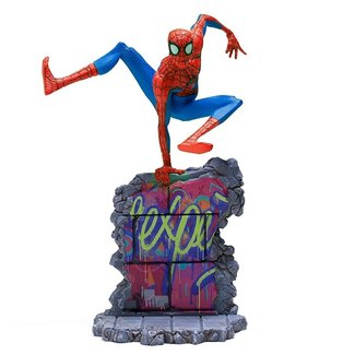 Iron Studios Spider-Man: Into the Spider-Verse BDS Art Scale Deluxe Statue 1/10 Peter B. Parker 21 cm