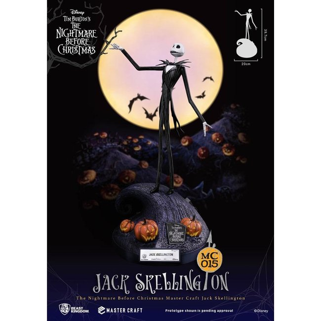 Beast Kingdom Nightmare Before Christmas Master Craft Statue Jack Skellington 40 cm
