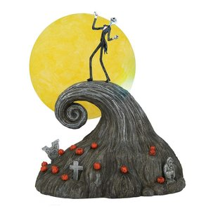 Nightmare Before Christmas Statue Jack on Spiral Hill 23 cm