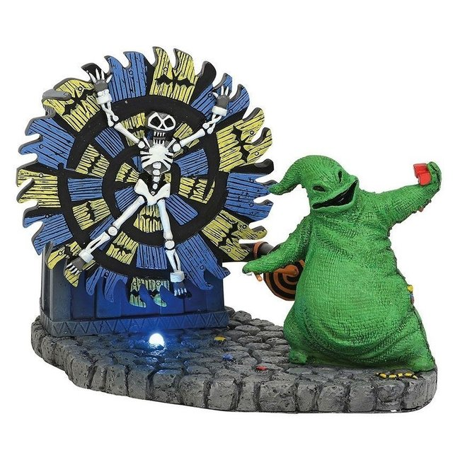 Enesco Nightmare Before Christmas Statue Oogie Boogie Gives a Spin 11 cm