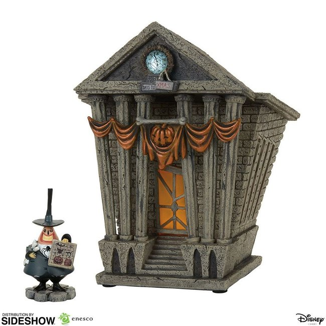 Enesco Nightmare Before Christmas Statue Halloween Town City Hall 22 cm