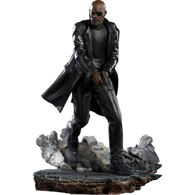 Iron Studios Spider-Man: Far From Home BDS Art Scale Deluxe Statue 1/10 Nick Fury 20 cm