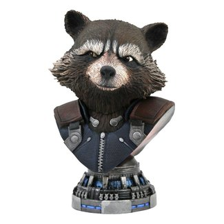 Diamond Select Toys Avengers: Endgame Legends in 3D Bust 1/2 Rocket Raccoon 20 cm