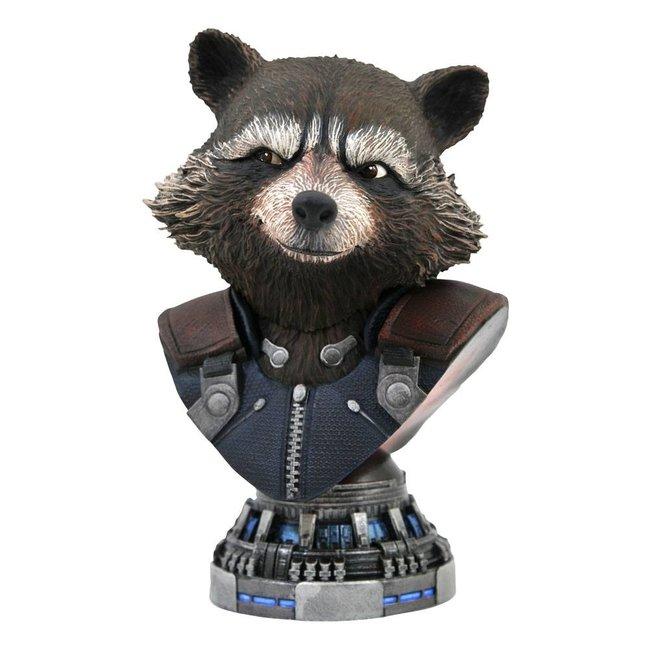 Diamond Select Toys Avengers: Endgame Legends in 3D Bust 1/2 Rocket Raccoon 20 cm