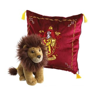 Noble Collection Harry Potter House Mascot Cushion with Plush Figure Gryffindor