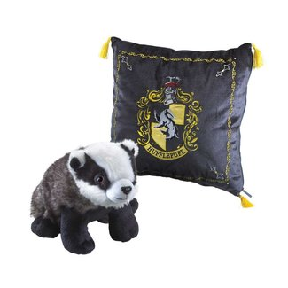 Noble Collection Harry Potter House Mascot Cushion with Plush Figure Hufflepuff