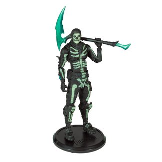 McFarlane Fortnite Action Figure Green Glow Skull Trooper (Glow-in-the-Dark) Walgreens Exclusive 18 cm