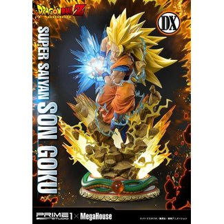 Prime 1 Studio Dragon Ball Z Statue 1/4 Super Saiyan Son Goku Deluxe Version 64 cm