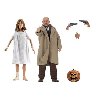 NECA  Halloween 2 Retro Action Figure 2-Pack Doctor Loomis & Laurie Strode 20 cm