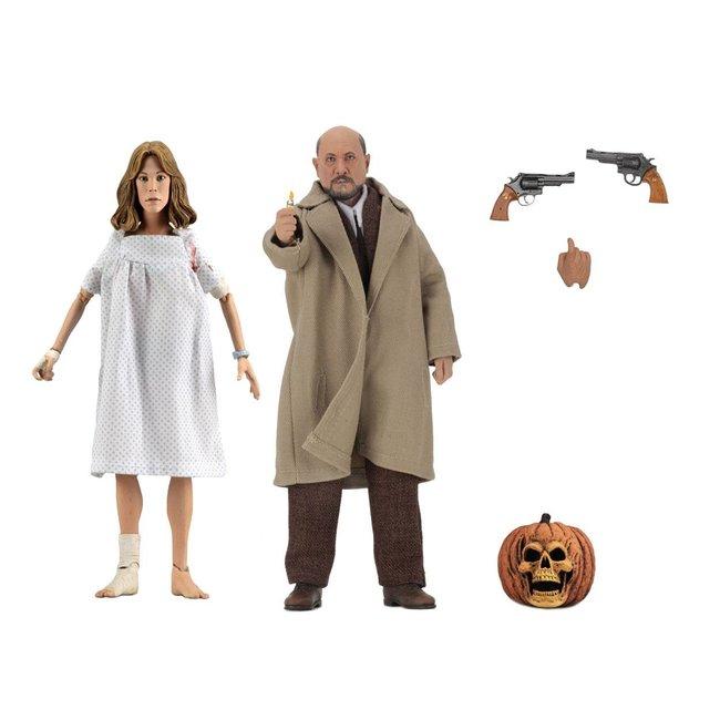 NECA  Halloween 2 Retro Action Figure 2-Pack Doctor Loomis & Laurie Strode 20 cm