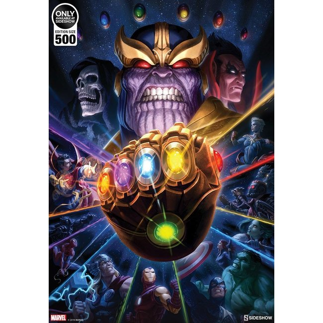 Sideshow Collectibles Marvel Art Print Thanos & Infinity Gauntlet by Fabian Schlaga 61 x 46 cm - unframed