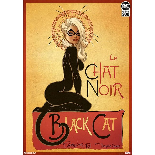 Sideshow Collectibles Marvel Art Print Le Chat Noir: The Black Cat by J. Scott Campbell 46 x 61 cm - unframed