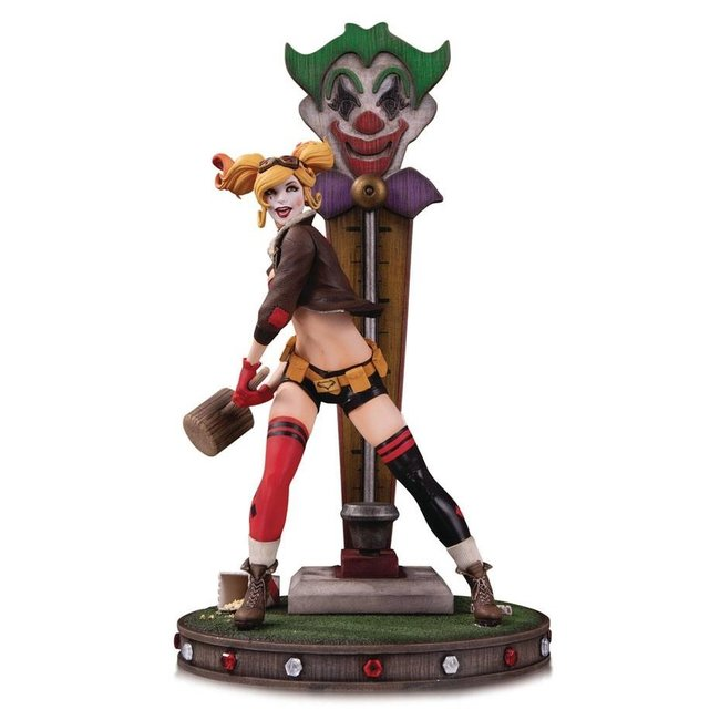 DC Collectibles DC Bombshells Statue Harley Quinn DLX Version 2
