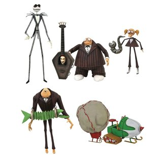 Diamond Select Toys Nightmare before Christmas Select Action Figures 18 cm Series 9 Set (3)