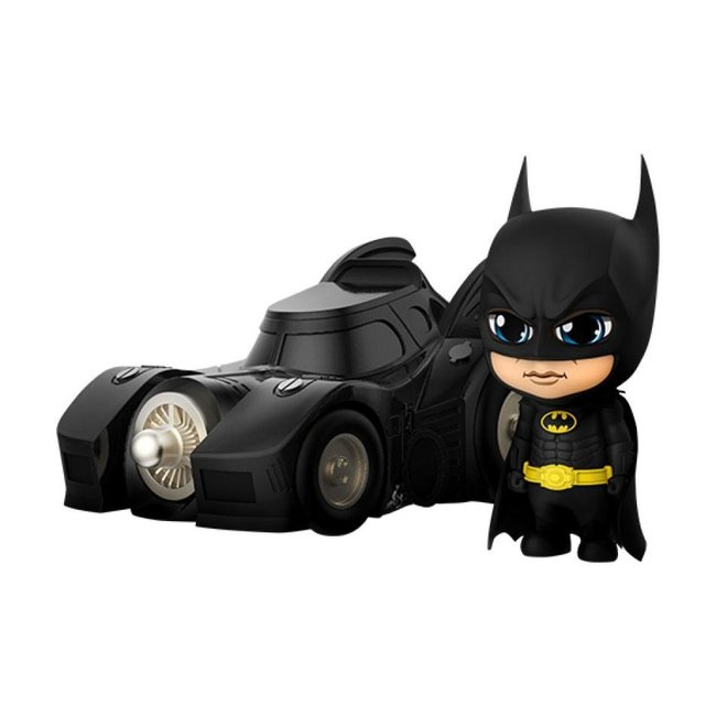 Hot Toys Batman (1989) Cosbaby Mini Figures Batman with Batmobile 12 cm