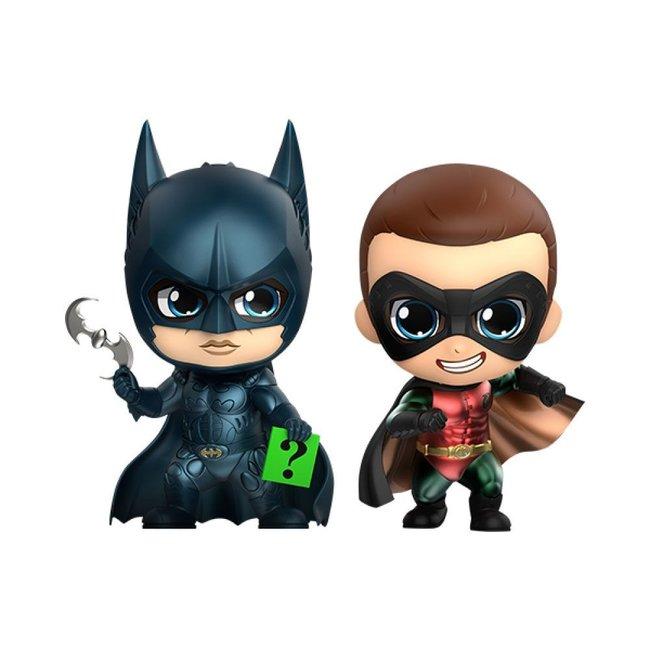 Batman Forever Cosbaby Mini Figure 2-Pack Batman & Robin 11 cm