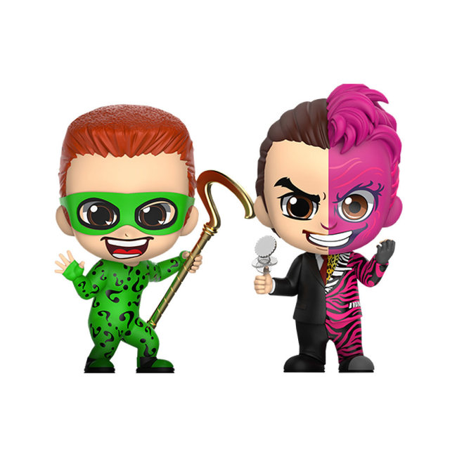 Hot Toys Batman Forever Cosbaby Mini Figure 2-Pack The Riddler & Two-Face 11 cm