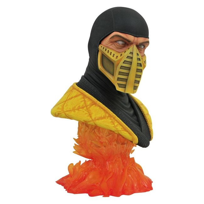 Diamond Select Toys Mortal Kombat Legends in 3D Bust 1/2 Scorpion 25 cm